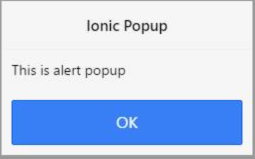 ionicPopup example in Apperyio application.